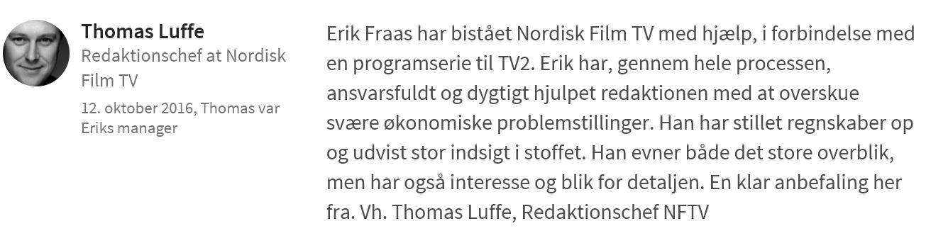 Thomas Luffe fra Nordisk Film anbefaler PØR
