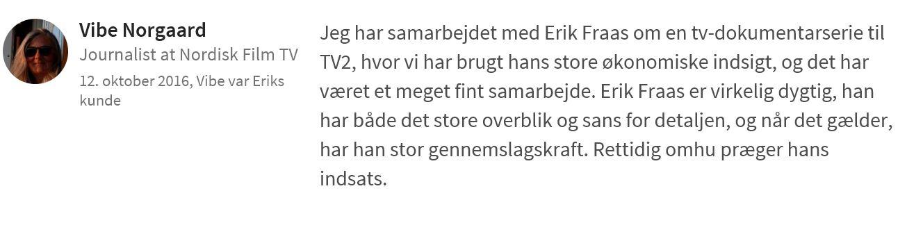 Journalist Vibe Nørgaard anbefaler PØR