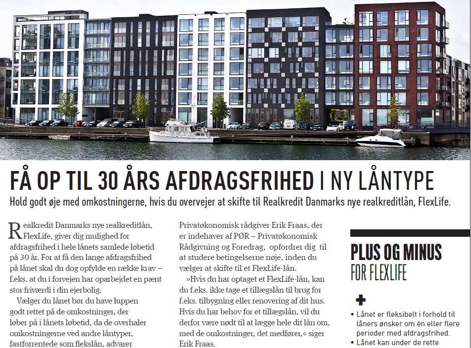 Omtale af PØR og Erik Fraas i Penge & Privatøkonomi